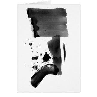 Abstract Expressionism Black White Greeting Card