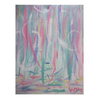 Abstract Expressionism Brush Strokes Painting I Poster