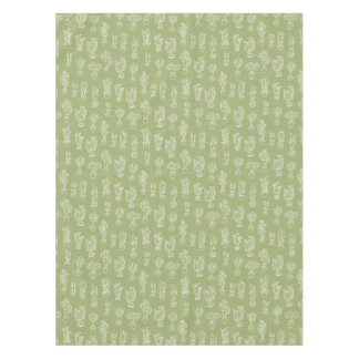 Abstract Expressionism Cactus Line Art Pattern Tablecloth