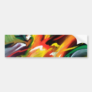 Abstract Expressionism Painting Bumper Sticker