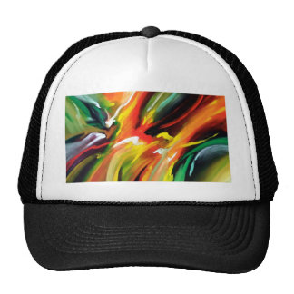 Abstract Expressionism Painting Cap