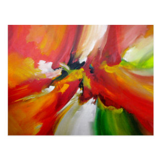 Abstract Expressionism Painting Postcard