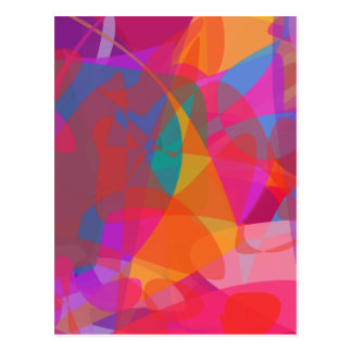 Abstract Expressionism Postcard
