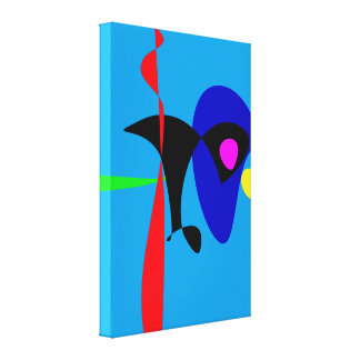 Abstract Expressionism Simple Digital Art Canvas Print