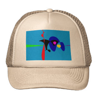 Abstract Expressionism Simple Digital Art Hat