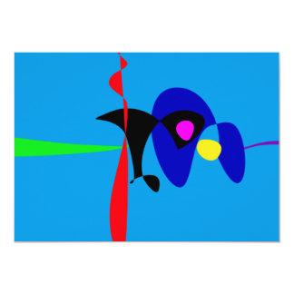 Abstract Expressionism Simple Digital Art Custom Invitations