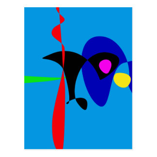 Abstract Expressionism Simple Digital Art Postcard
