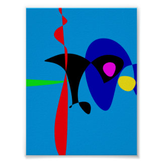 Abstract Expressionism Simple Digital Art Poster