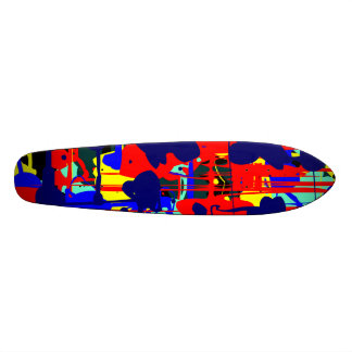 Abstract Expressionist 01 - Retro Skate Board Deck