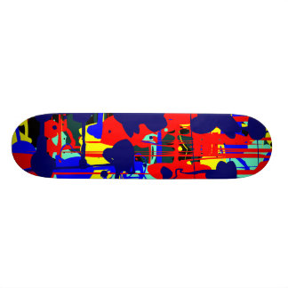 Abstract Expressionist 01 Skate Deck