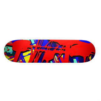 Abstract Expressionist 03 Skateboard