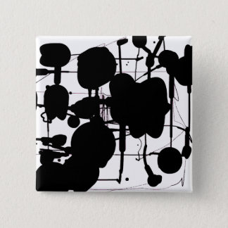 Abstract Expressionist 15 Cm Square Badge