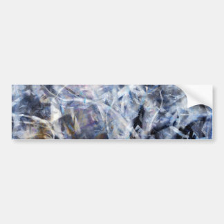 Abstract Expressionist Dance 3 Square Bumper Sticker