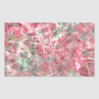 Abstract Expressionist Dance in Pink and Green Rectangular Sticker