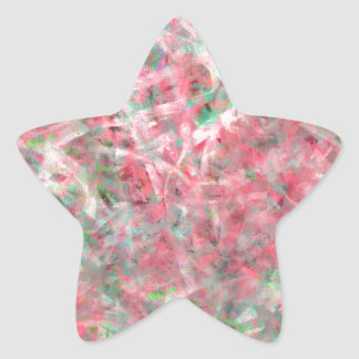 Abstract Expressionist Dance in Pink and Green Star Sticker