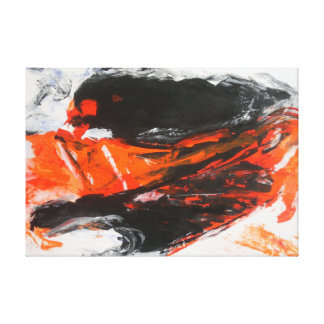 Abstract expressionist painting by Pierre G-Laeuli Canvas Print