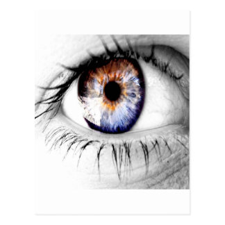 Abstract Eye Wide Open Postcard