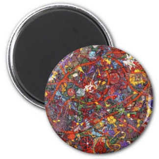 Abstract - Fabric Paint - Sanity Fridge Magnet