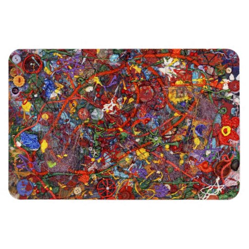 Abstract - Fabric Paint - Sanity Rectangular Magnet