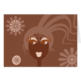 Abstract Face Blank Notecard Note Card