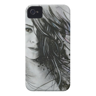 Abstract face Case-Mate iPhone 4 cases