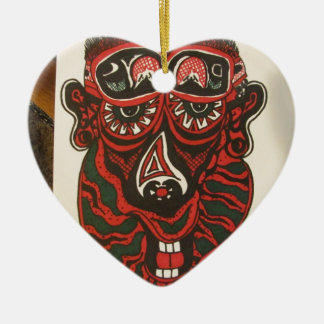 Abstract Face Christmas Ornament