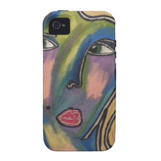 Abstract Face Phone Case iPhone 4/4S Cover
