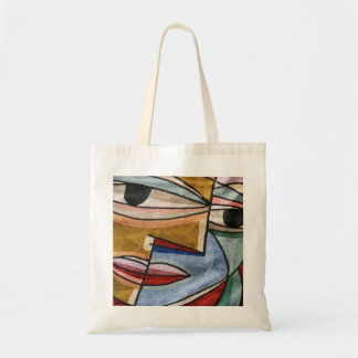 Abstract Face Budget Tote Bag