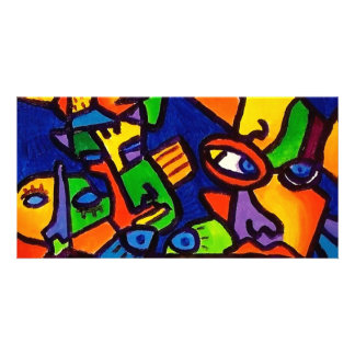 Abstract Faces 4 by Piliero Photo Cards