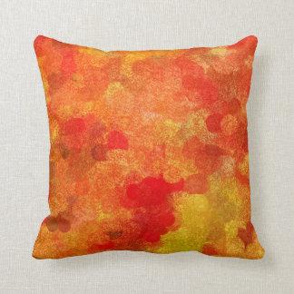 Abstract Fall Autumn Season Colors Throw Pillow