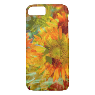 Abstract Fall Color Flowers iPhone 7 Case