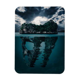 Abstract Fantasy Artistic Island Magnet