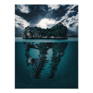 Abstract Fantasy Artistic Island Photographic Print