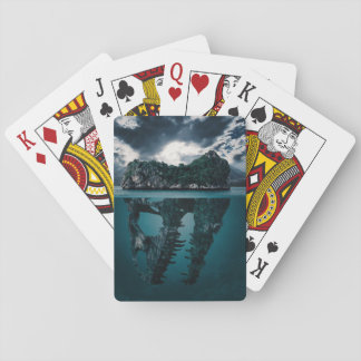 Abstract Fantasy Artistic Island Playing Cards