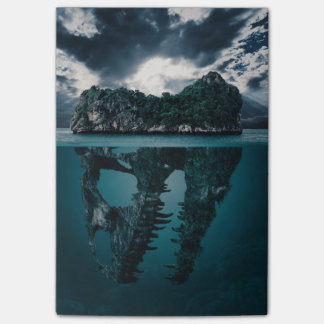 Abstract Fantasy Artistic Island Post-it Notes