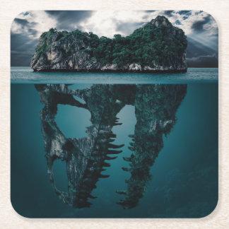 Abstract Fantasy Artistic Island Square Paper Coaster