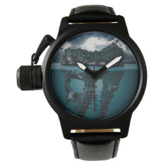 Abstract Fantasy Artistic Island Wristwatch