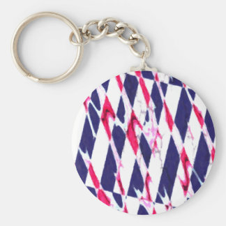 Abstract fantasy basic round button key ring