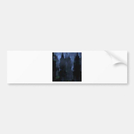 Abstract Fantasy Dark Kingdom Hell Bumper Sticker
