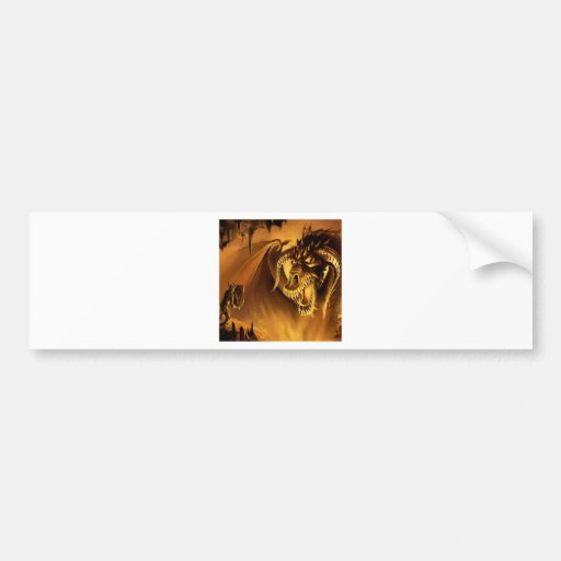 Abstract Fantasy Evil Serpant Fights Bumper Stickers