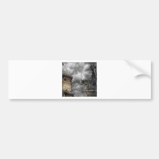 Abstract Fantasy Evil Tower Of Spells Bumper Sticker