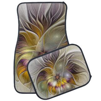 Abstract Fantasy Flower Fractal Art Car Mat