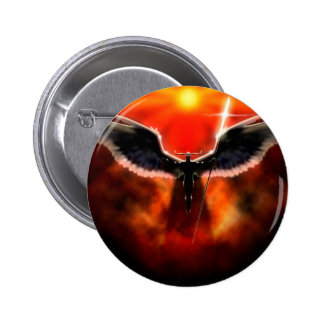 Abstract Fantasy God Of War Ares Pinback Button