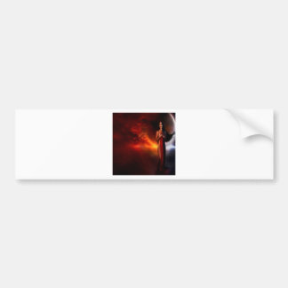 Abstract Fantasy Lady Of The Night Bumper Sticker