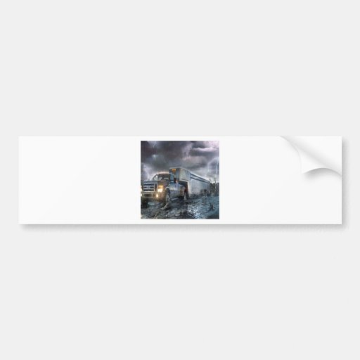 Abstract Fantasy Noahs Ark Revise Bumper Stickers