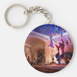 Abstract Fantasy Peter Pan Celebration Key Ring