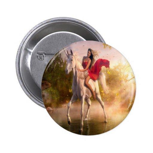 Abstract Fantasy Real Garden Of Eden Pinback Buttons