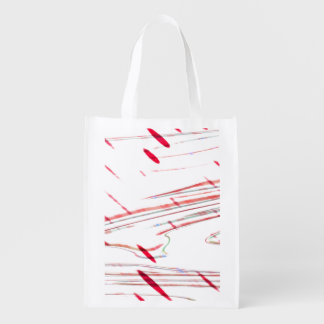 Abstract fantasy reusable grocery bag