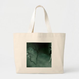 Abstract Fantasy Standing Alone Night Canvas Bags