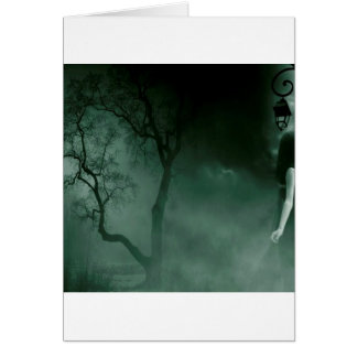Abstract Fantasy Standing Alone Night Card